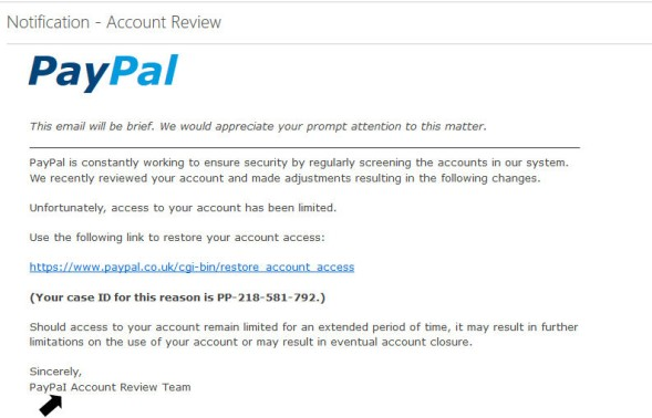 fake paypai email